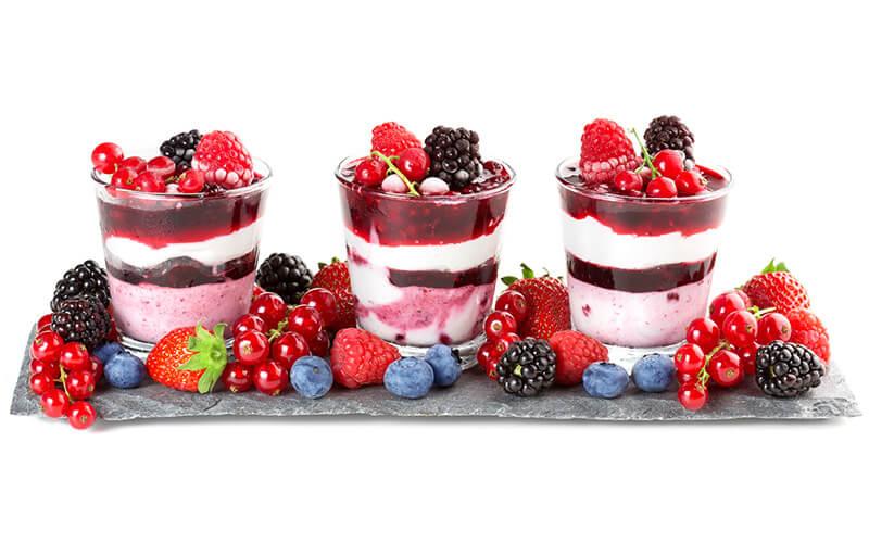 raspberry dessert Menus